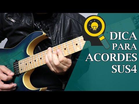 DICA DE GUITARRA   ALTERNATIVA PARA ACORDE SUS4