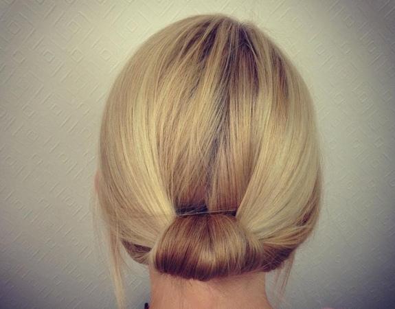 Easy Bridal / Work Updo for Short to Medium Hair