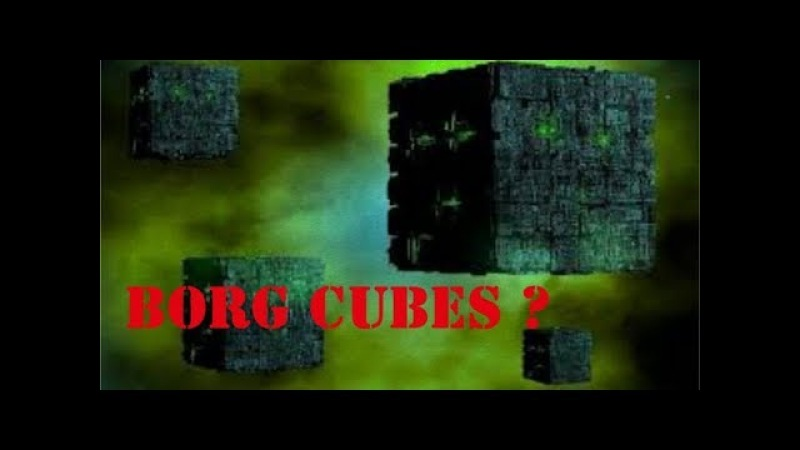 BORG CUBE SHAPED UFOS ? - AND A DISC HIDING IN PLAIN SIGHT