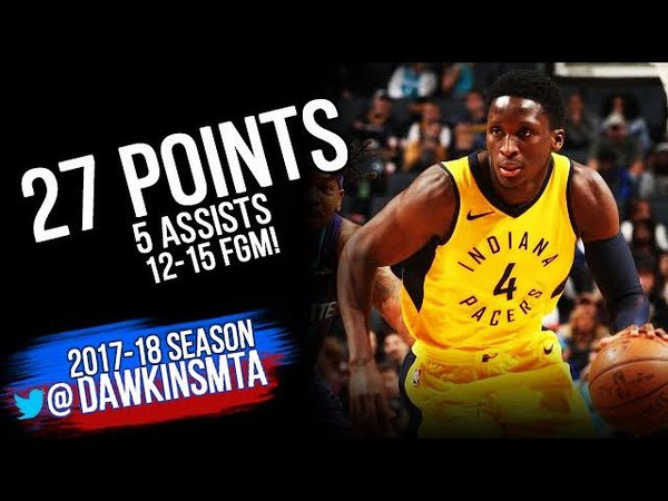 Victor Oladipo Full Highlights 2018.4.8 Indiana Pacers vs Hornets - 27 Pts,12-15 FGM! | FreeDawkins