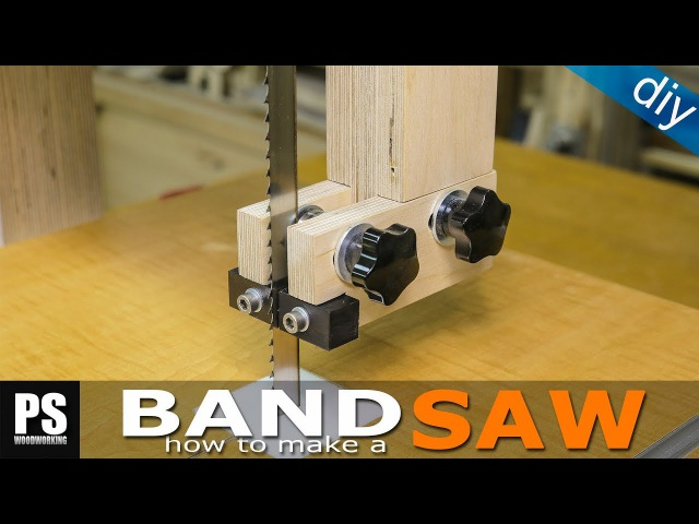 Making a homemade Band Saw (part3 blade guides)