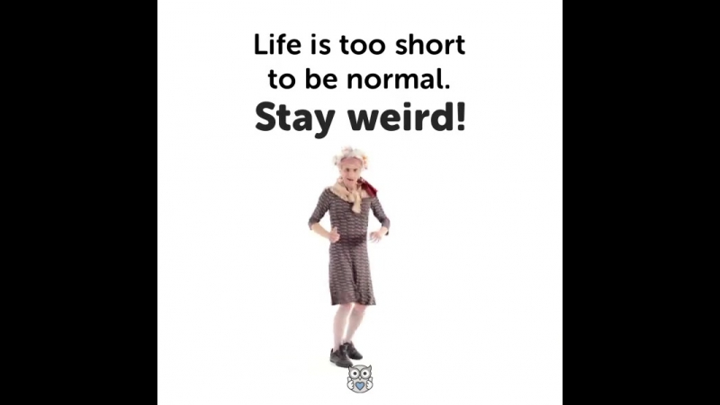 Life's too short to be normal. Stay weird!
