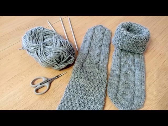 Вязание носки носочки спицами пряжа alize alpaca royal