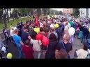 Полицаи на 9 мая срывают Знамя Победы. Украина. Наши дни...
