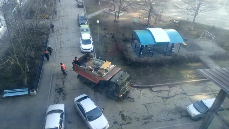 Камаз 55111 на сборе мусора г Тольятти