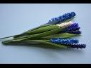 Kwiaty z bibuły szafirki Crepe paper grape hyacinths DIY