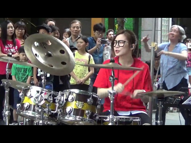 S. White. 羅小白 I'm sorry. Барабанщица-виртуоз из Тайваня.Amazing Girl Drummer นางฟ้าตีกลอง