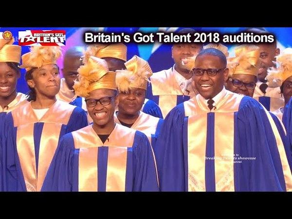 Gospel Choir got EVERYONE SINGING ALONG Auditions Britain's Got Talent 2018 S12E01