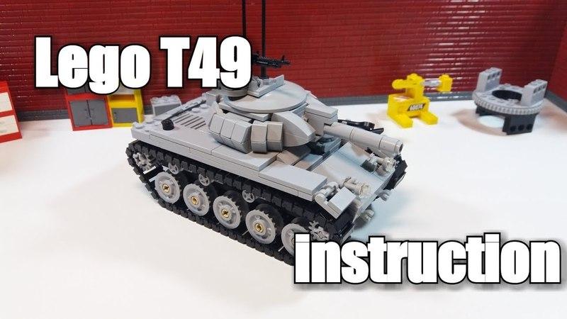 LEGO tank instruction : t49