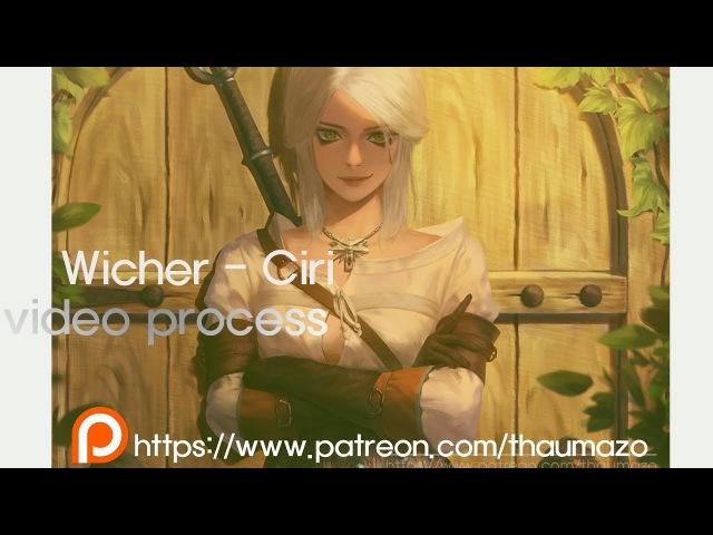 Witcher CIRI fanart Video process Photoshop Speed painting 위쳐 시리 팬아트 스피드 페인팅