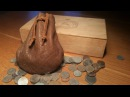 Leather working Medieval leather coin pouch