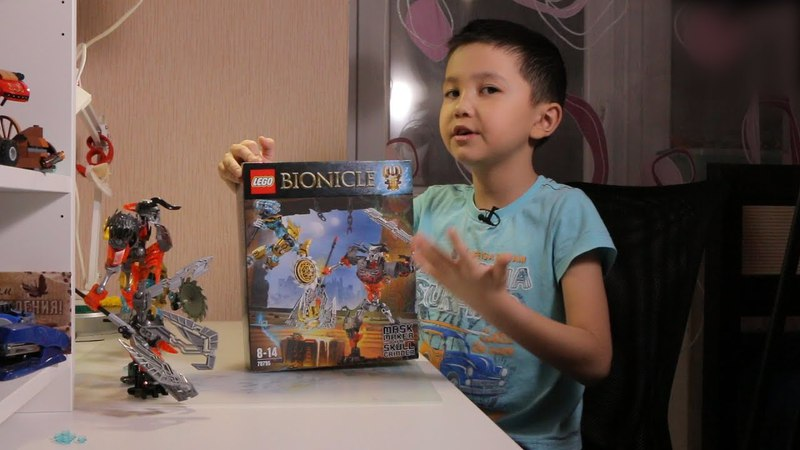 Обзор конструктор LEGO Bionicle Mask Maker vs Skull Grinder 70795