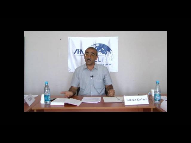 ABA CEELİ --Vəkilliyə namizədlər üçün hazırlıq kursları - Məşğələ 7(1)