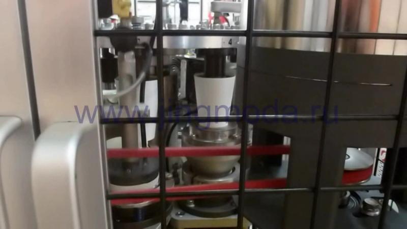 Скоростное оборудование для изготовления бумажных стаканчиков JMD-S18Y, видео