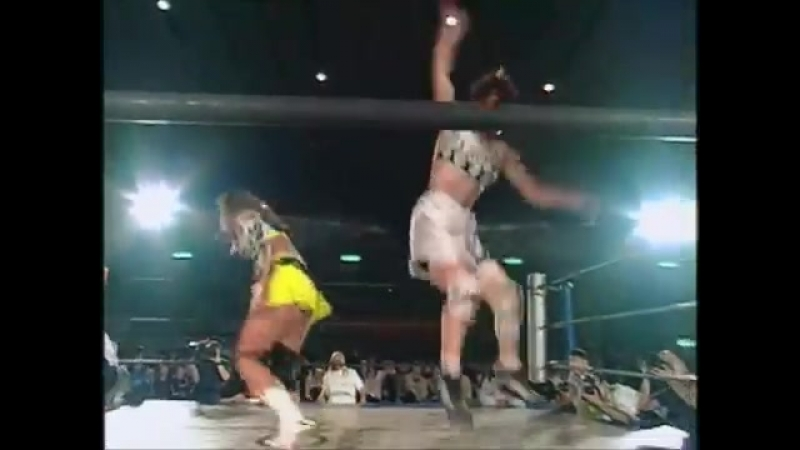 Ayako Hamada Mika Akino (c) vs. LCO (Shimoda Mita) Clipped - 11.12.1999