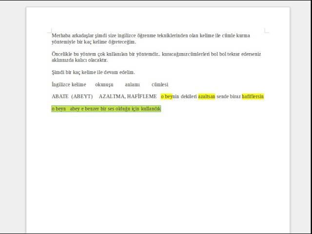 YOUTUBE VİDEO 300 YDS KELİMESİ-ingilizce kelime -1
