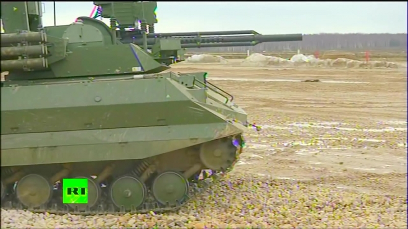 RT - Uran-9 беспилотные Ground Combat Vehicle Живая Обжиг [1080p]