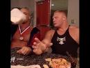 |WM| Курт Энгл и Брок Леснар за кулисами Смекдаун 2003