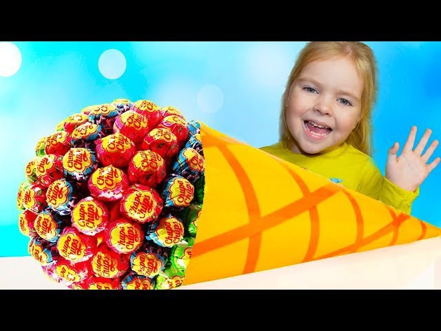 Funny Baby Eating Giant Candy Lollipops! Johny Johny yes papa Song Nursey Rhymes Song