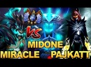 Miracle OD vs Midone Storm Spirit ft Pajkatt PA Rampage EPIC Battle Dota 2