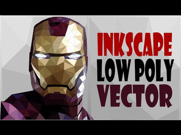 Inkscape Tutorial- Simple Steps To Make Iron Man Low Poly Vector Poster
