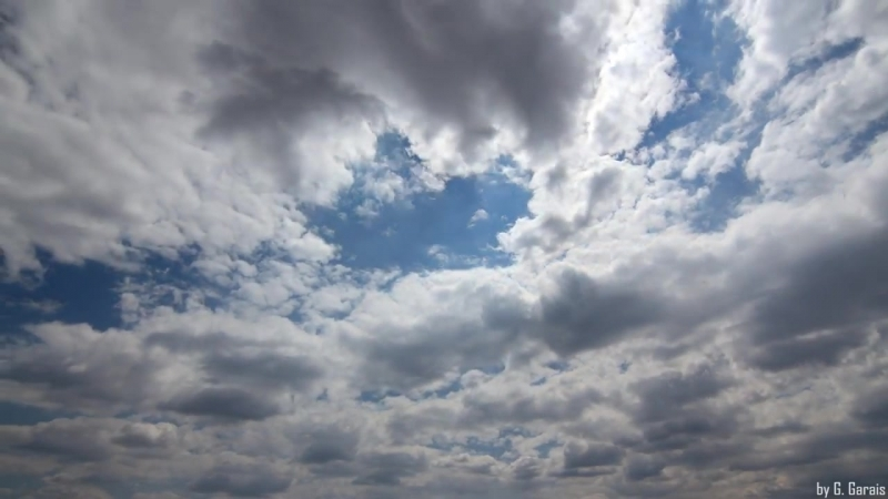 TIME LAPSE with Amazing Clouds on Deep Blue Sky - Symphony No. 5 by Beethoven