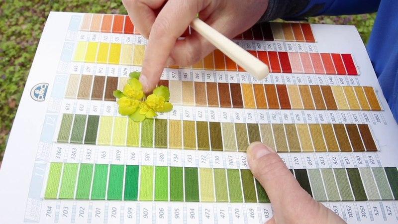 Цветовая палитра в природе.Школа объемной вышивки Галины Перовой.