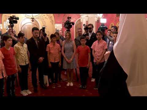 Патриарх Кирилл встретился с детьми погибших сирийских военных