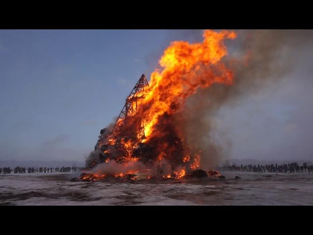 MASLENITSA RUSSIA 2018 BIG FIRE 🔥 МАСЛЕНИЦА 2018 НИКОЛА-ЛЕНИВЕЦ СЖИГАЮТ КОСТРИЩЕ