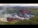 Helicopter overflight of a fast moving lava flow emerging from fissure 20 Kīlauea Volcano's Lower East Rift Zone May 19 2018