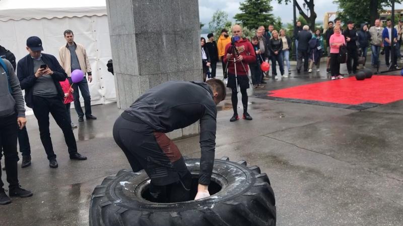 Пронос колеса 201 кг