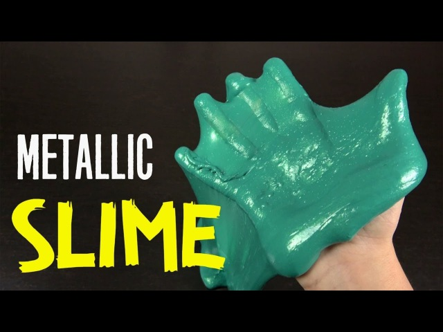 How to make Green Metallic Shiny Purple Slime tutorial - No Borax, Shampoo, Detergent
