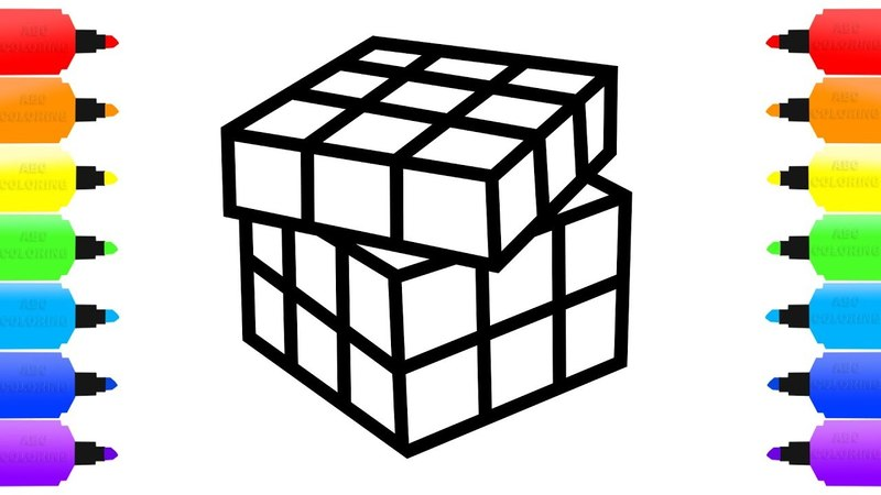 Toy Rubik's Cube Coloring Book for Kids Learn the Colors How to Draw Toy Rubik's Cube