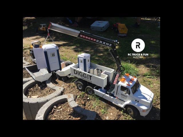 RC Construction World !! Trucks, Excavator Wheel loader Action! Sommerfest PSV Wels 2017