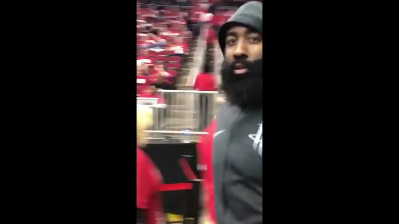 """James Harden Slaps Utah Jazz Fan's Phone After Being Called """"Worst Flopper In The NBA"""