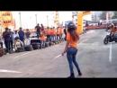KTM orange day stunt show