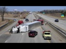 Semi Truck vs Strong Wind Semi Truck Blown Over