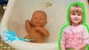 БЕБИ БОН умеет писать и плакать Играем в куклы пупсики как Катя МАМА Обзор игрушки BABY BORN