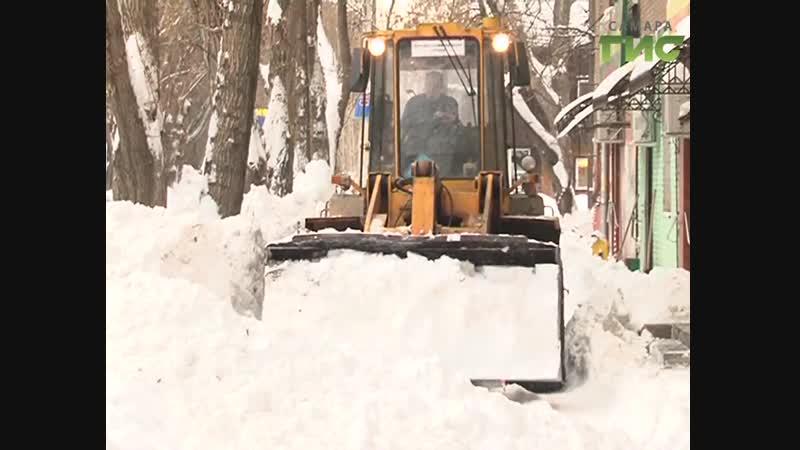 В Кировском районе Самары ведётся активная работа по расчистке дворов от снега
