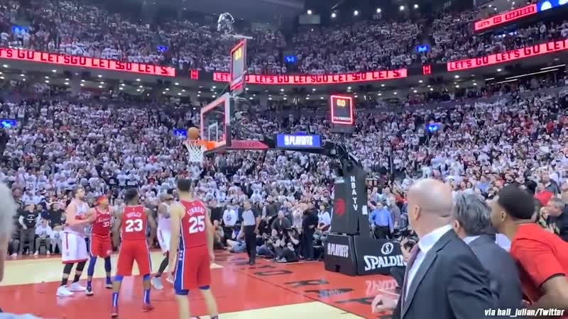 Must See Courtside Angle of Kawhis Epic Game Winner!