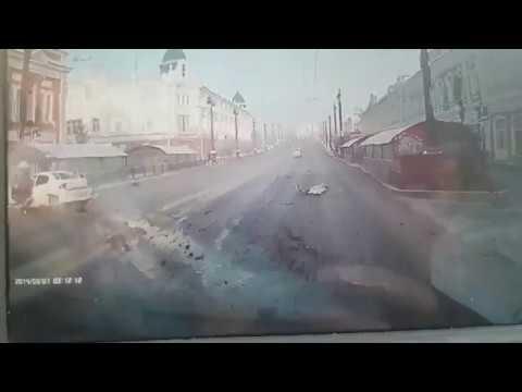 Момент аварии на ул. Ленина (17.01.2019)