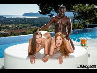 Jia Lissa & Stacy Cruz - Best Friends Share [Threesome, FFM, Redhead, Facial, Blowjob, Interracial, 1080p]