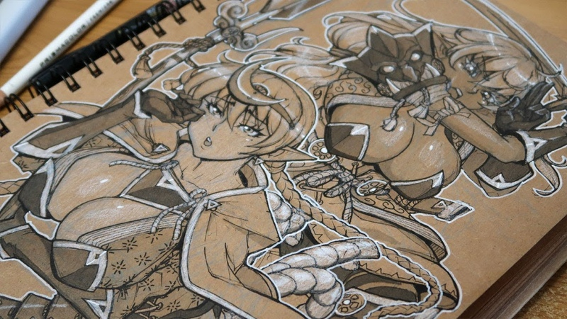Tan Sketchbook SEKIRO Inspired Elf OC! What Videogame made you work HARD - Draw With Mikey 112