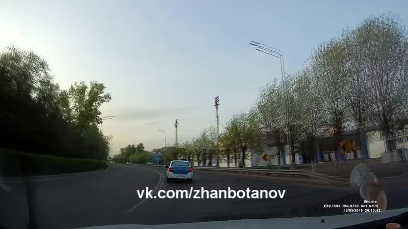 269 КР 15 Петропавловск выезд на полосу встречного движения