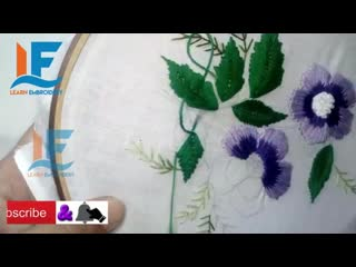 Hand Embroidery Flowers | Long and Short Stitch Embroidery | Tutorial 13