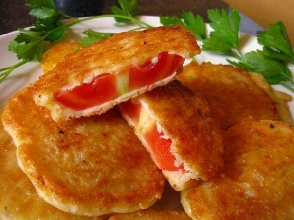 Жаренные помидоры в сырном кляре - отличная закуска!