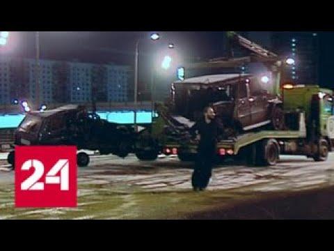 Смертельное ДТП в Москве водитель Gelandewagen сбежал с места аварии - Россия 24