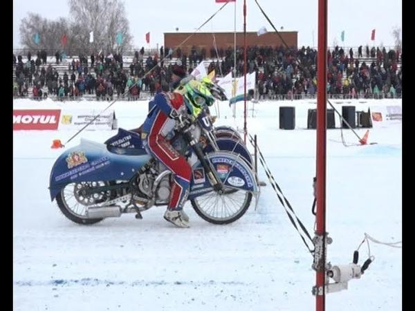 2 й день соревнований по мотогонкам на льду ЛПРЮ в Вятских Полянах