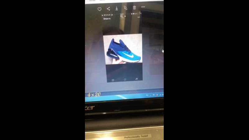 Кроссовки найк синие и высокие чёрные кроссовки с белой подошвой