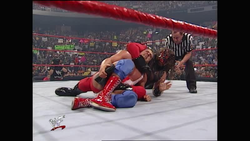WWF Raw Is War 24.07.2000 - the Rock Kane vs Kurt Angle Chris Benoit